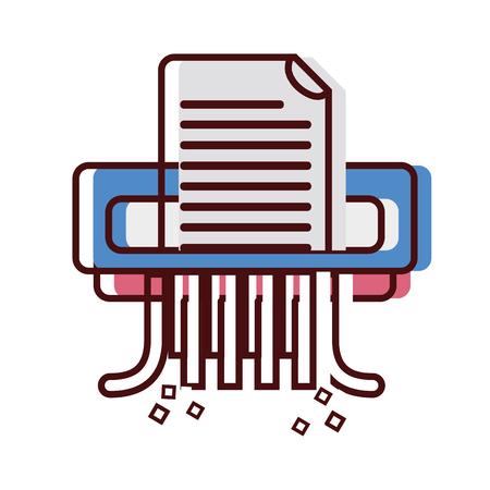 office paper shredder machine design vector illustration Иллюстрация