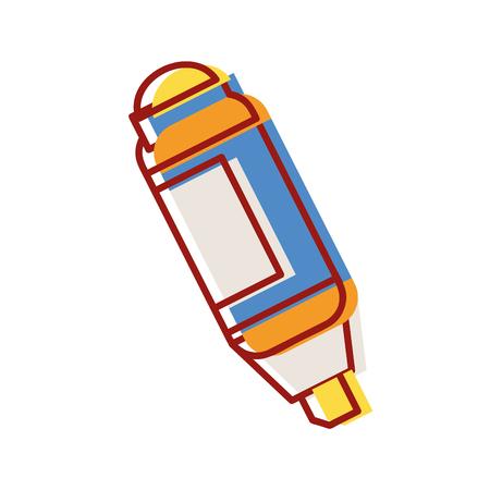 highlighter pen design to important document information vector illustration