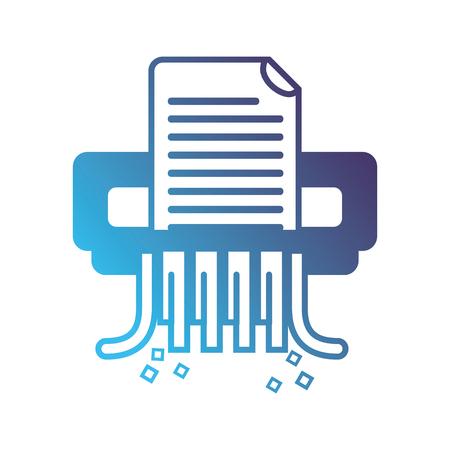 Silhouette office paper shredder machine design vector illustration.