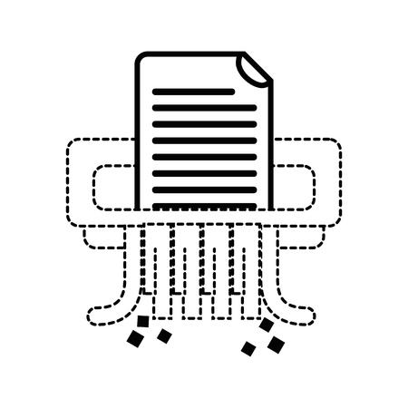 dotted shape office paper shredder machine design Иллюстрация