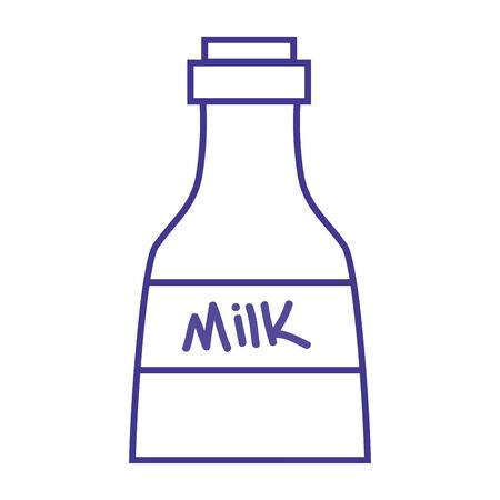 line fresh milk bottle product nutrition Illustration