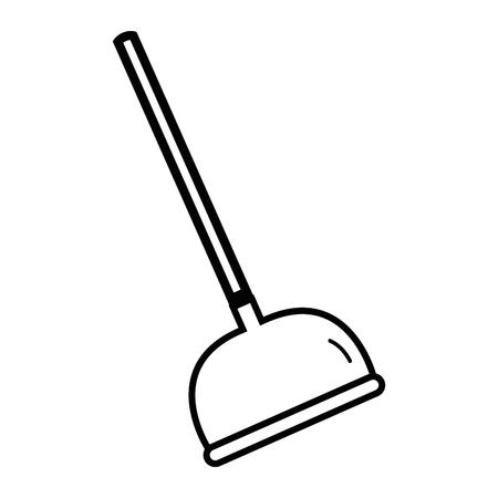 line pump toilet equipment service repair vector illustration