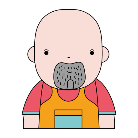 man plumber job to service repair vector illustration