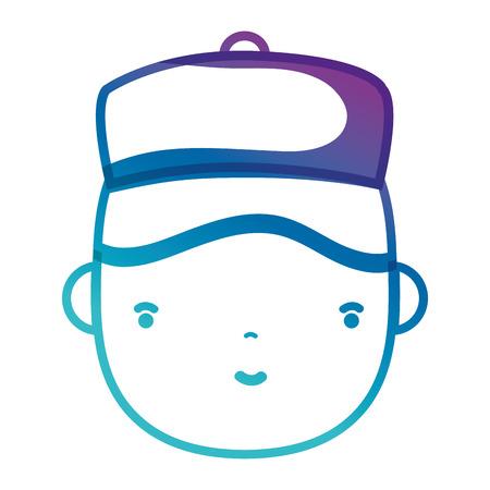 fitting: silhoouette man head plumber job to service repair vector illustration Illustration