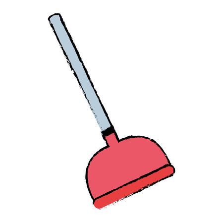 doodle pump toilet equipment service repair vector illustration
