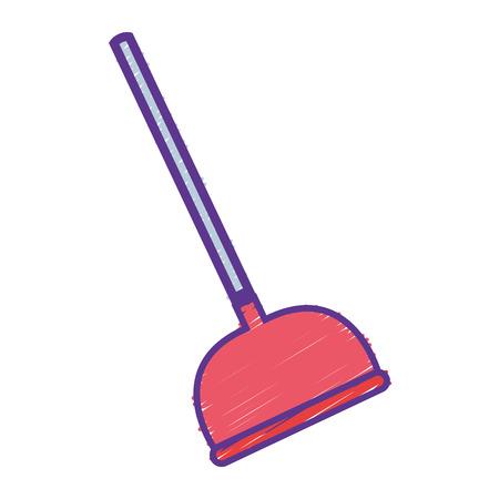 grated pump toilet equipment service repair vector illustration Illustration