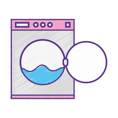 grated plumbing washing machine pipe service repair vector illustration