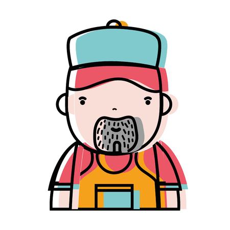 leaking: man plumber job to service repair vector illustration