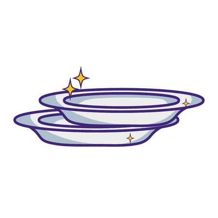 lavar platos: platos de porcelana limpiador de utensilio