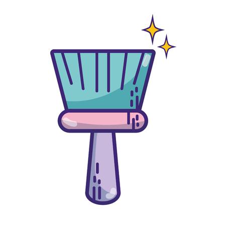 sweeper: Hand sweep illustration.