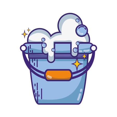 Laundry pale illustration.
