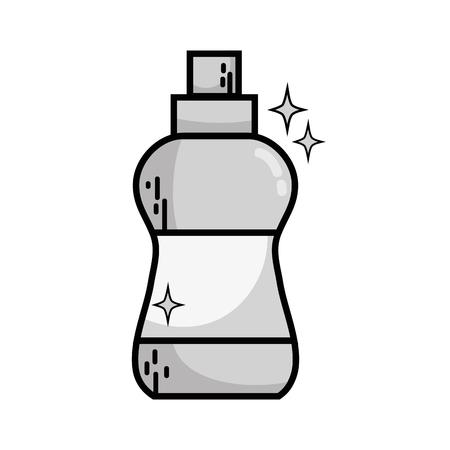 Detergent liquid plastic bottle icon.