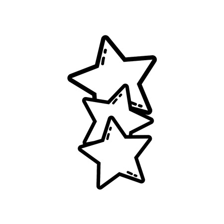 line stars shining in the sky decoration design vector illustration