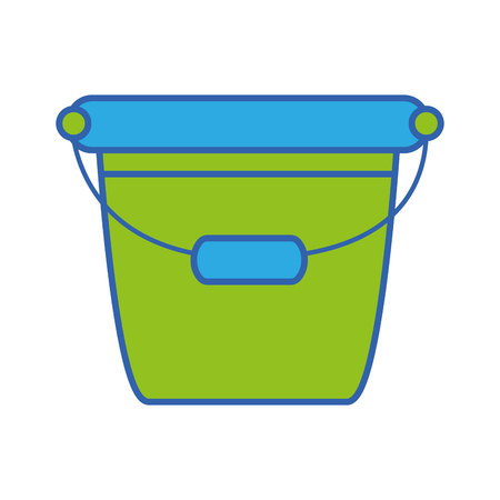 pail plastic object to clean house vector illustration