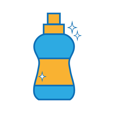 detergent liquid plastic bottle to clean house vector illustration