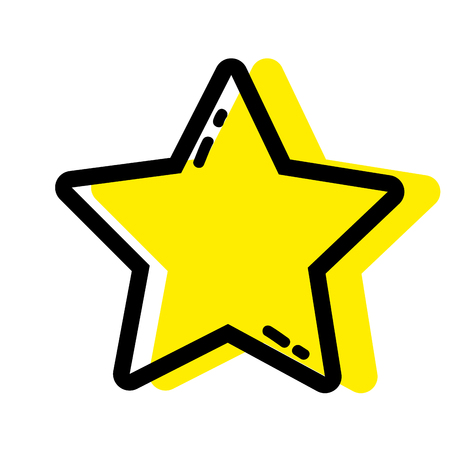 color star shining in the sky decoration design vector illustration