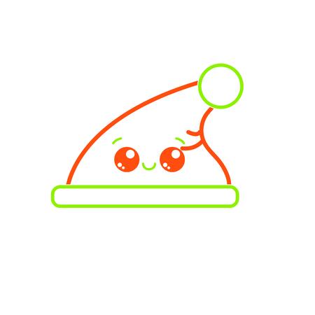 Geïsoleerde kerstmuts hoed vectorillustratie