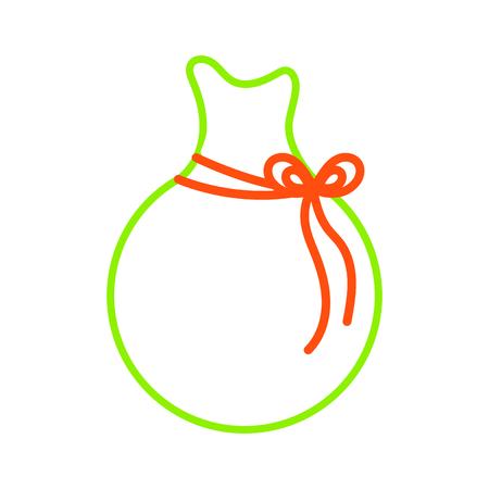 Santas bag icon of Merry christmas and season theme Isolated design Vector illustration