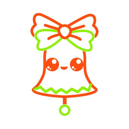 Bell icon of Merry christmas and season theme Isolated design Vector illustration