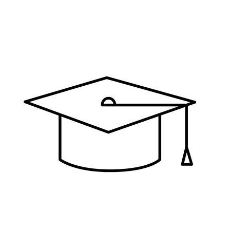Graduation cap of graduation university and education theme Isolated design Vector illustration