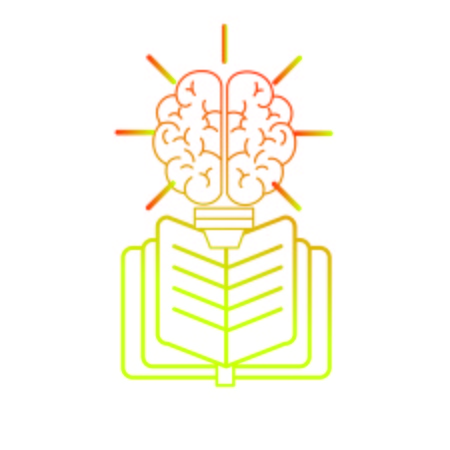 education: Brain and book of Mental health theme Isolated design Vector illustration
