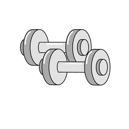 Metal weight of heavy object and equipment theme Isolated design Vector illustration