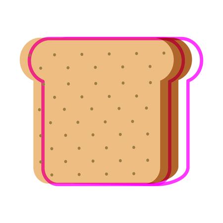 Isolierte Brotdesign Standard-Bild - 89906107