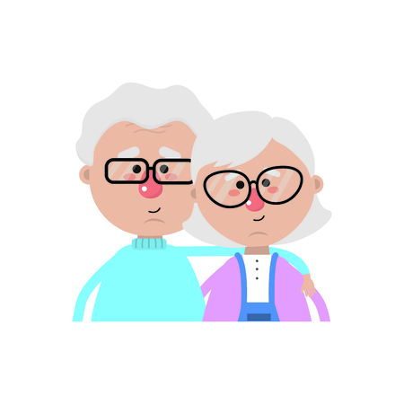 Grandmother and grandfather of grandparents theme Isolated design Vector illustration
