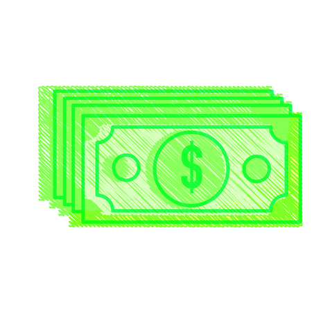 Bill of money financial item and commerce theme Isolated design Vector illustration
