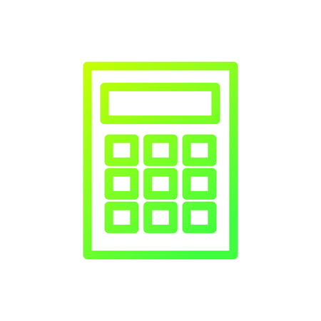 Calculator of tool and mathematics theme Isolated design Vector illustration Illustration