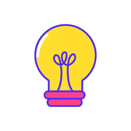 Isolated light bulb design on white background, vector illustration.