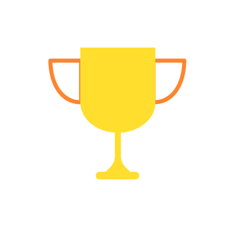 Trophy of competition success and sport theme Isolated design Vector illustration