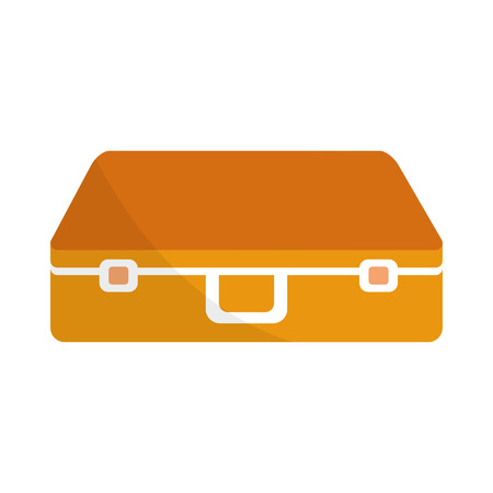 Suitcase of travel and baggage theme Isolated design Vector illustration