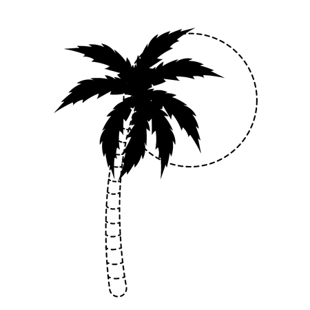 Palm tree of nature plant and summer theme Isolated design Vector illustration Illustration