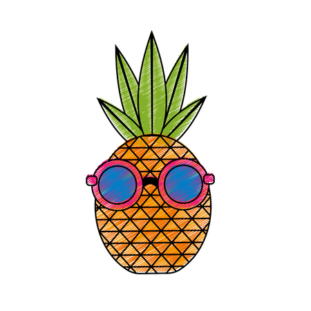 Isolated pineapple design