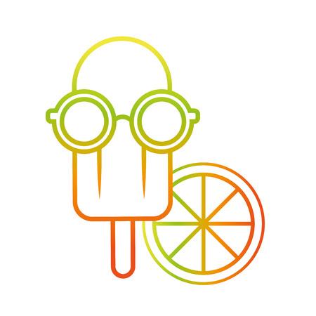 Ice cream icon illustration.