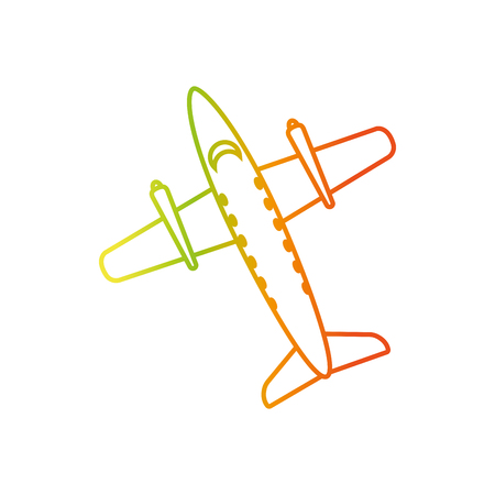 Plane of airplane vehicle and transportation theme Isolated design Vector illustration.