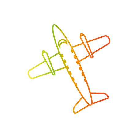 turbine engine: Plane of airplane vehicle and transportation theme Isolated design Vector illustration.
