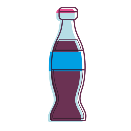 Soda of drink and beverage theme Isolated design Vector illustration