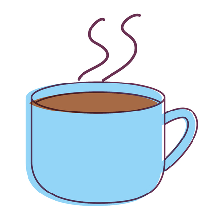 Chocolate mug of drink and beverage theme Isolated design Vector illustration Illustration