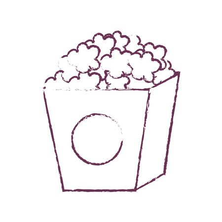 Pop corn of fast food and urban menu theme Isolated design Vector illustration Illustration