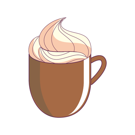 Chocolate mug of drink and beverage theme Isolated design Vector illustration.