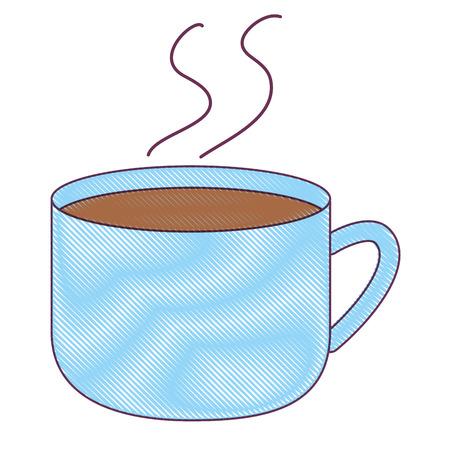 Isolated chocolate mug design