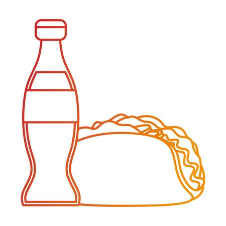 Isolated tacos design Illustration