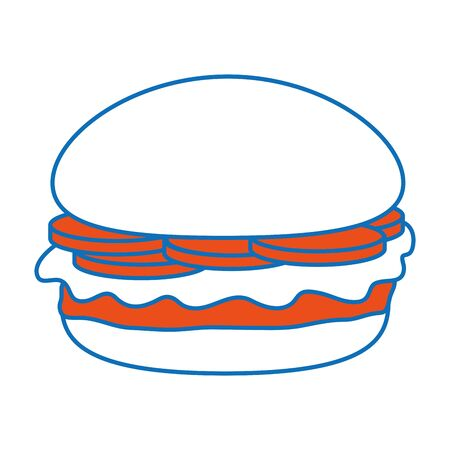 Isolated hamburger design