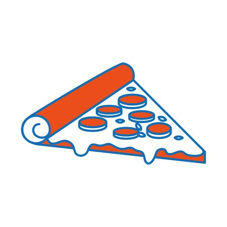 Isolated pizza design Vectores