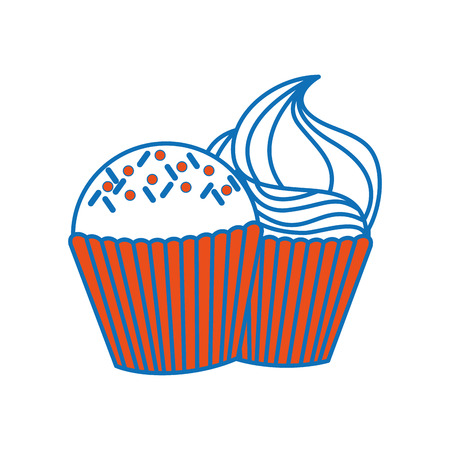 Isolated muffin design 向量圖像