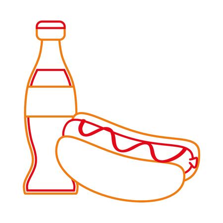 Isolated hot dog design Illustration