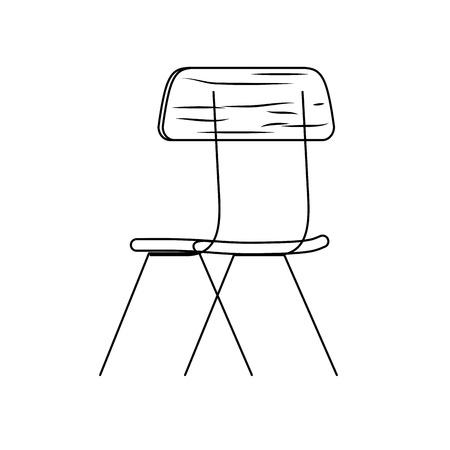 Chair of seat furniture office and home theme Isolated design Vector illustration