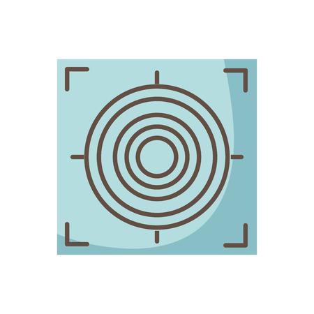 Gun sight circle with shooting focus